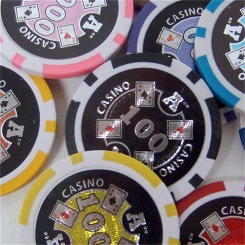 Chips - 750 Ace Casino 14 Gram Poker Set With Mahogany Case