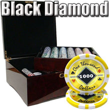 Chips - 750 Black Diamond 14 Gram Poker Chips Set With Mahogany Case