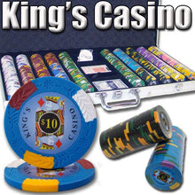 Chips - 750 King's Casino 14 Gram Pro Clay Poker Chips Set With Aluminum Case