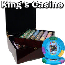 Chips - 750 King's Casino 14 Gram Pro Clay Poker Chips Set With Mahogany Case