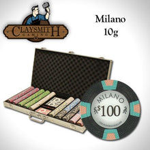 Chips - 750 Milano 10 Gram Pure Clay Poker Chips Aluminum Case Set
