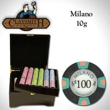 Chips - 750 Milano 10 Gram Pure Clay Poker Chips Mahogany Case Set