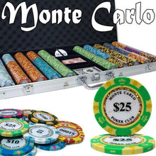 Chips - 750 Monte Carlo 14 Gram Poker Chips Set With Aluminum Case
