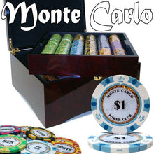 Chips - 750 Monte Carlo 14 Gram Poker Chips Set With Mahogany Case