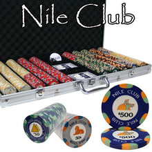 Chips - 750 Nile Club 10 Gram Ceramic Poker Chips Set With Aluminum Case