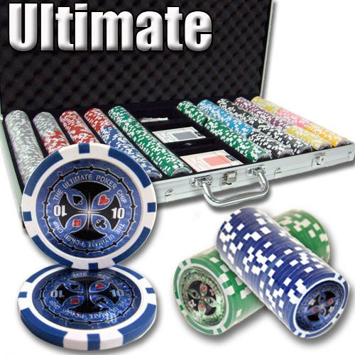 Chips - 750 Ultimate 14 Gram Poker Chips Set With Aluminum Case