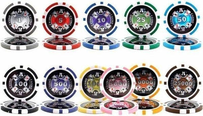 Chips - 800 Ace Casino 14 Gram Poker Chips Bulk
