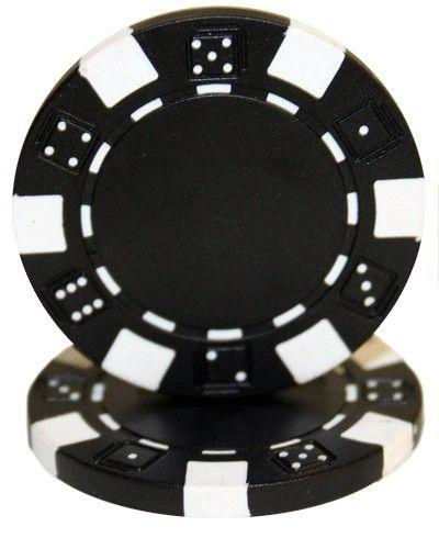 Chips - Black Striped Dice 11.5 Gram - 100 Poker Chips