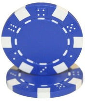 Chips - Blue Striped Dice 11.5 Gram - 100 Poker Chips
