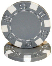 Chips - Gray Striped Dice 11.5 Gram - 100 Poker Chips