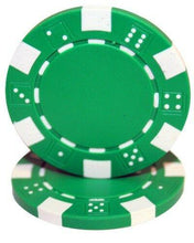 Chips - Green Striped Dice 11.5 Gram - 100 Poker Chips