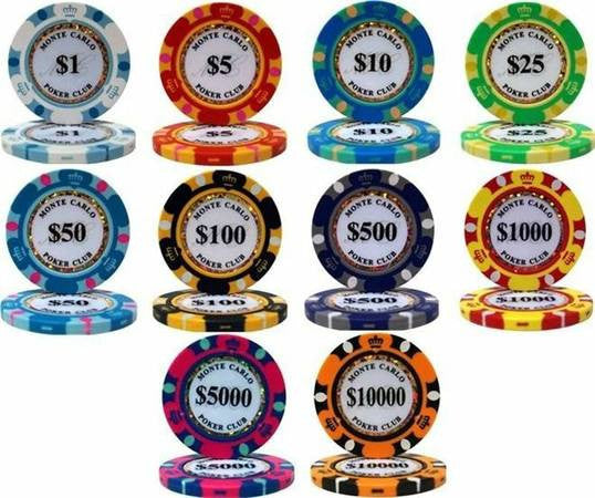 Chips - Monte Carlo 14 Gram Poker Chips