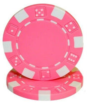 Chips - Pink Striped Dice 11.5 Gram - 100 Poker Chips