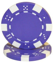 Chips - Purple Striped Dice 11.5 Gram - 100 Poker Chips