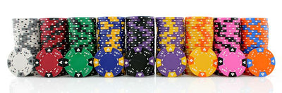 Ace King 14 Gram Suited Clay Poker Chips Sample Set Pack All 9 Colors NEW