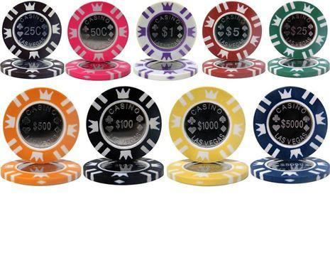 Chips - Sample Pack Coin Inlay 15 Gram Poker Chips