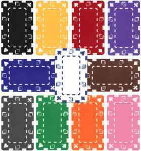 25 Square Chips 32 Gram Rectangular Plaques - The Poker Store .Com