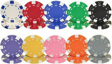 100 Striped Dice 11.5 Gram Poker Chips Bulk - The Poker Store .Com
