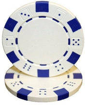 Chips - White Striped Dice 11.5 Gram - 100 Poker Chips