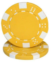 Chips - Yellow Striped Dice 11.5 Gram - 100 Poker Chips
