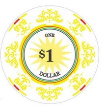 $1 Classic Ceramic 10 Gram - 100 Poker Chips