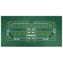 "Craps Felt Game Layout 72""x36"""