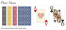 Desjgn Poker Size Jumbo Red Blue 100% Plastic Cards - Classic Victorian