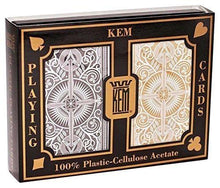 Kem Cards Black Gold Arrow Bridge Size Jumbo Index