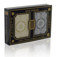 Kem Cards Black Gold Arrow Poker Size Jumbo Index