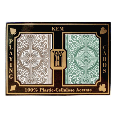 Kem Cards Green Brown Arrow Bridge Size Standard Index