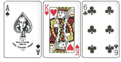 Kem Cards Red Blue Arrow Poker Size Standard Index