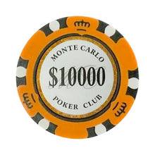 $10000 Ten Thousand Dollar Monte Carlo Smooth 14 Gram Poker Chips