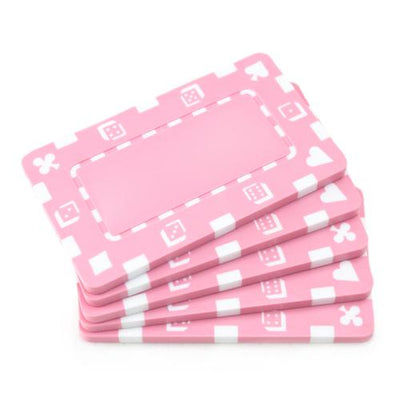 Pink Poker Plaques - 5 PC