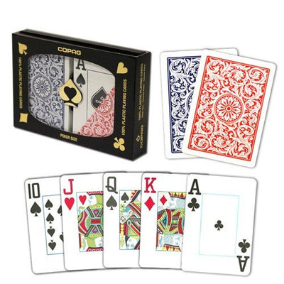 Playing Cards - 1 Dozen 12 Sets Copag Cards Red Blue Poker Size Jumbo Index