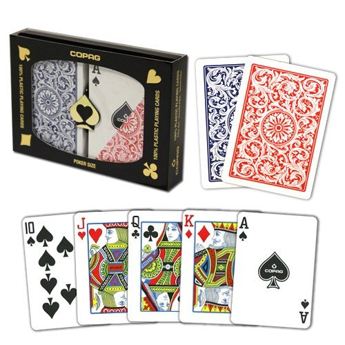 Playing Cards - 1 Dozen 12 Sets Copag Cards Red Blue Poker Size Standard Index