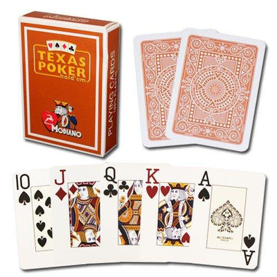 Playing Cards - 2 Decks Of Modiano 100% Plastic Cards Poker Jumbo