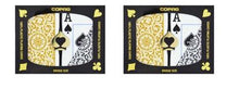 Playing Cards - 2 Sets Copag Cards Black Gold Bridge Size Jumbo Index