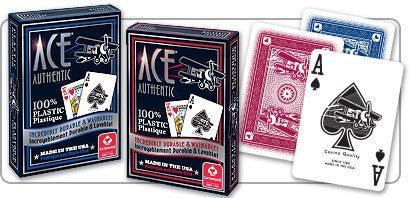 Playing Cards - ACE 100% Plastic Playing Cards - 2 Decks