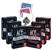 Playing Cards - ACE 100% Plastic Playing Cards - 6 Decks