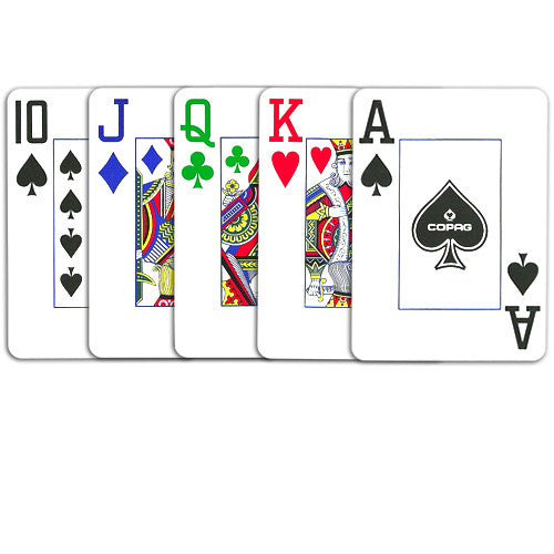 Playing Cards - Copag 4 Color Poker Size Jumbo Index