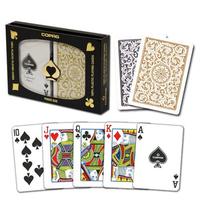 Playing Cards - Copag Black Gold Poker Size Standard Index