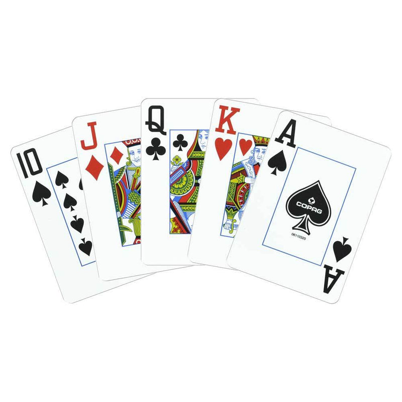 Playing Cards - Copag Cards EXPORT Red Blue Poker Size Jumbo Index