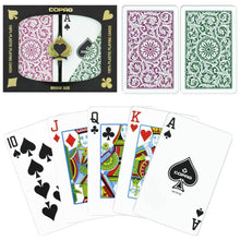 Playing Cards - Copag Cards Green Burgundy Bridge Size Standard Index
