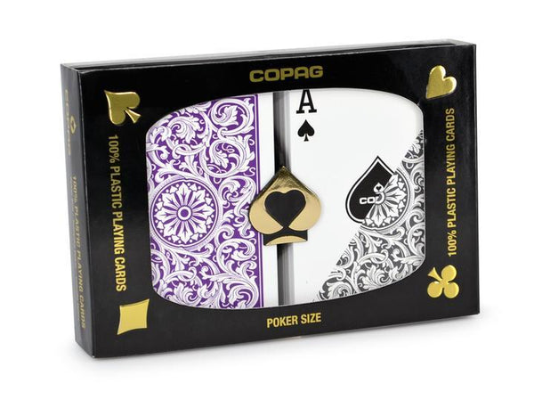 Playing Cards - Copag Cards Purple Grey Poker Size Standard Index