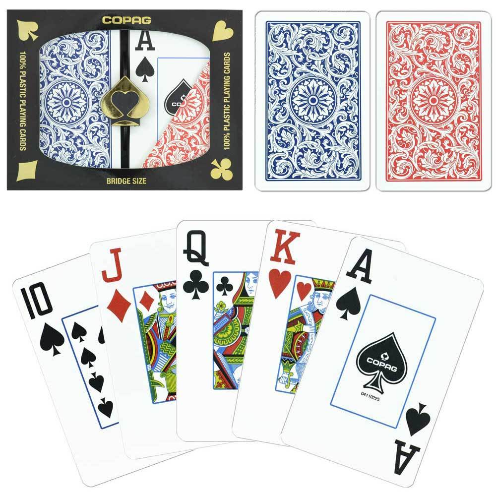 Playing Cards - Copag Cards Red Blue Bridge Size Jumbo Index
