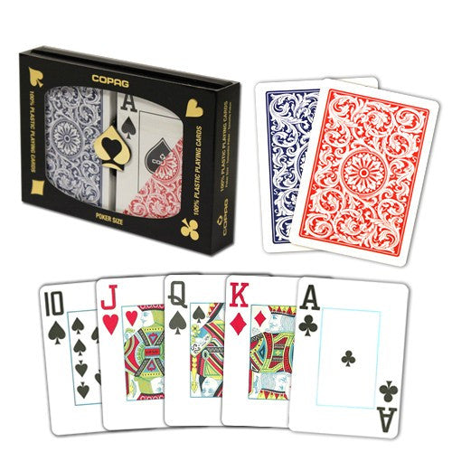Playing Cards - Copag Red Blue Poker Size Jumbo Index