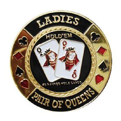 Pocket Queens Ladies Poker Card Guard