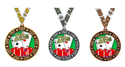 Poker Tournament Medals 1st 2nd 3rd Place Kit