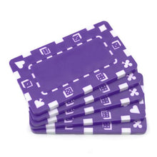 Purple Poker Plaques - 5 PC