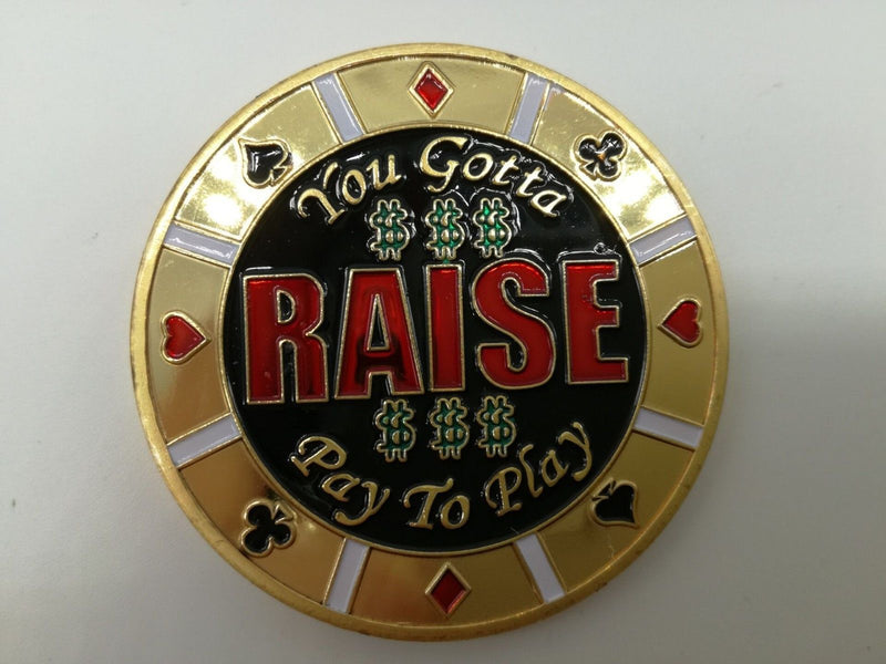 Raise To Play Poker Card Guard